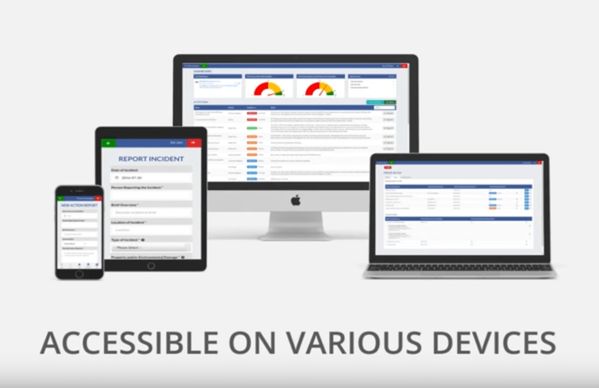 Accessible   Various Devices   OHS Software   WHS Software   Safety Software