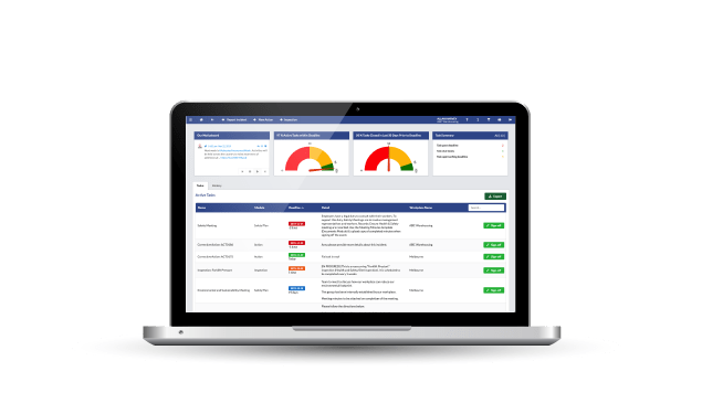 safety champion WHS software with easy overview dashboard